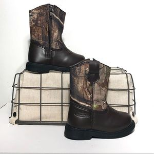 Realtree Lil Dustin Camouflage Boys Boots